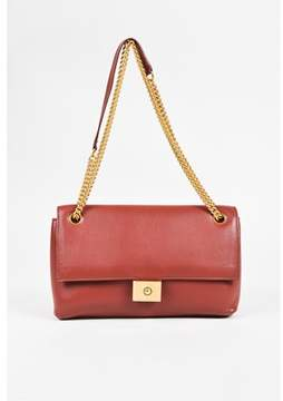 Mulberry Pre-owned Red Leather Chain Strap cheyne Flap Bag.