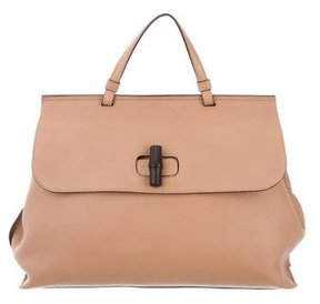 Gucci Large Bamboo Daily Bag - NEUTRALS - STYLE