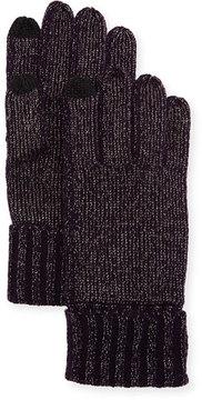 Sofia Cashmere Lurex®; Knit Touch-Screen Gloves