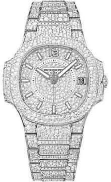 Patek Philippe 18K White Gold with Diamond 33.6mm Womens Watch