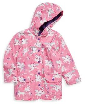 Hatley Little Girl's & Girl's Winged Unicorn Polyurethane Raincoat