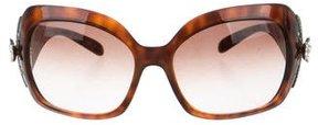 Bvlgari Embellished Tortoiseshell Sunglasses