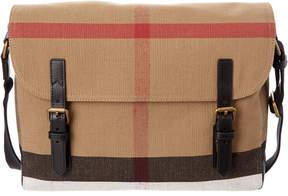 Burberry Check Canvas Messenger Bag