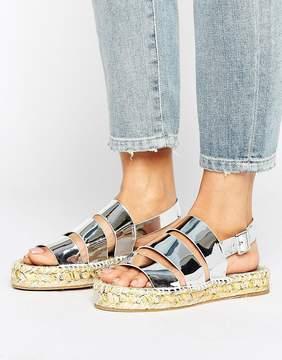 Asos JINESSA Metallic Espadrille Sandals
