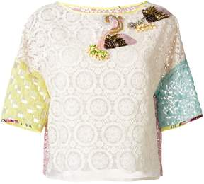 Antonio Marras lace colour block blouse