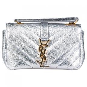 Saint Laurent Baby monogramme leather handbag - SILVER - STYLE