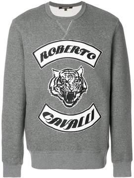 Roberto Cavalli tiger logo jumper