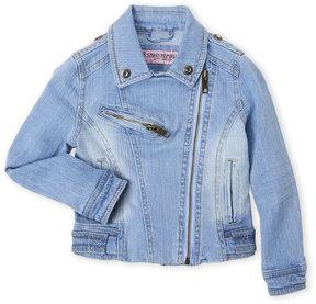 Urban Republic Toddler Girls) Asymmetrical Denim Moto Jacket