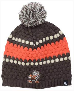 '47 Women's Cleveland Browns Leslie Pom Knit Hat