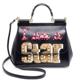 Dolce & Gabbana Classic Top Handle Bag - BLACK-MULTI - STYLE