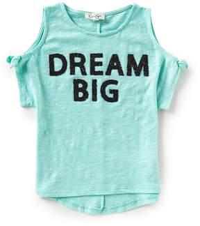 Jessica Simpson Big Girls 7-16 Dream Big Cold-Shoulder Tee