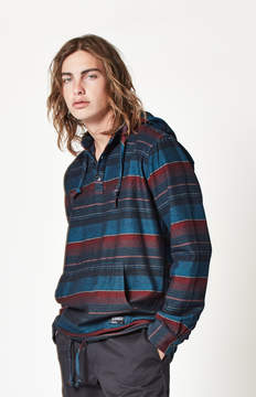 Ezekiel Yosemite Striped Hooded Long Sleeve Shirt