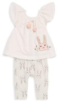 Jessica Simpson Baby's Two-Piece Cotton Striped Top and Pants Set