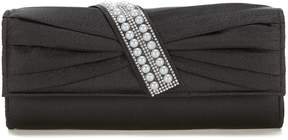Kate Landry Pearl Pleated Clutch
