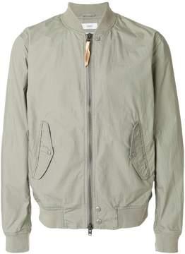 Closed zipped bomber jacket