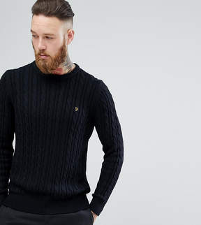 Farah Ludwig Cable Knit Sweater in Black