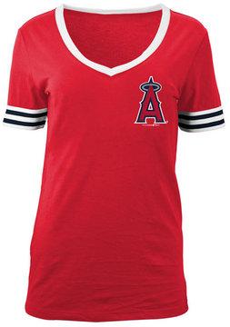5th & Ocean Women's Los Angeles Angels of Anaheim Retro V-Neck T-Shirt