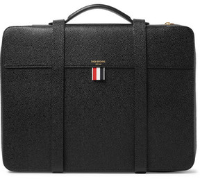 Thom Browne Convertible Pebble-Grain Leather Portfolio Backpack