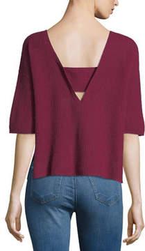 Christopher Fischer Cashmere Half-Sleeve Sweater