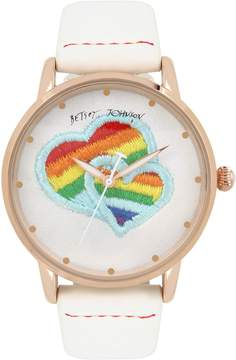 Betsey Johnson EMBROIDERED LOVE IS LOVE WATCH