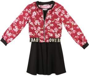 Speechless Girls 7-16 Floral Jacket & Sleeveless Dress Set
