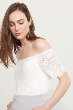 Dynamite Off-The-Shoulder Crochet Top