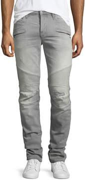 Hudson Men's Blinder Biker Breakwater Moto Skinny Jeans, Blue