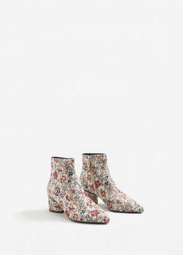 MANGO Floral jacquard ankle boots
