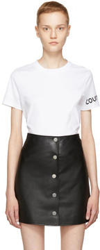 Courreges White Sleeve Logo T-Shirt