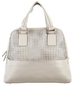 Zac Posen Z Spoke by Laser-Cut Leather Dome Bag