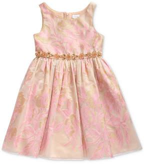 Sweet Heart Rose Toddler Girls Metallic Floral Dress