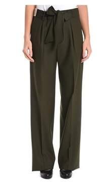 Berwich Women's Green Wool Pants.