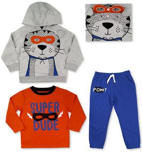 Nannette 3-Pc. Shirt, Hoodie & Pants Set, Toddler Boys (2T-5T)