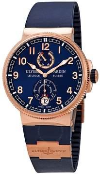 Ulysse Nardin Marine Chronometer Manufacture Blue Dial Blue Rubber Men's Watch