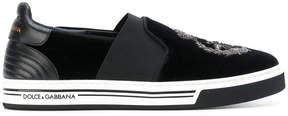 Dolce & Gabbana crown slip on sneakers