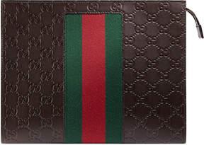 Gucci Signature Web cosmetic case