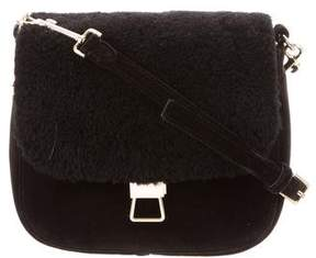 Theory Perry Shearling-Trimmed Bag
