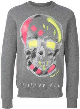 Philipp Plein neon skull sweatshirt