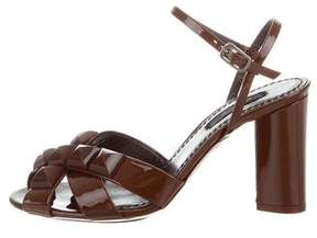 Marc Jacobs Cachem Patent Leather Sandals w/ Tags