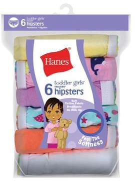 Hanes Baby Toddler Girl Hipster Underwear, 6-Pack