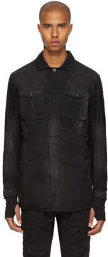11 By Boris Bidjan Saberi Black Washed Army Shirt
