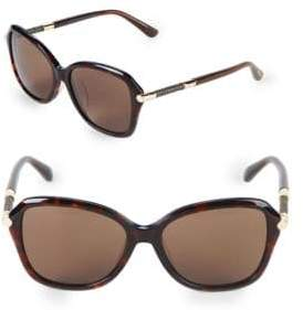 Jimmy Choo 52MM Square Patterned Temple Sunglasses