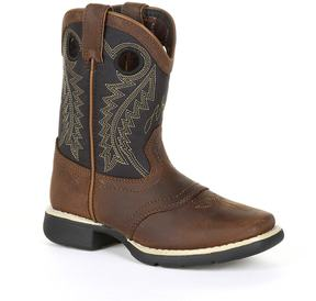 Durango Lil Black Saddle Toddler Western Boots