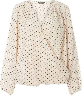 Dorothy Perkins Blush Spotted Wrap Top