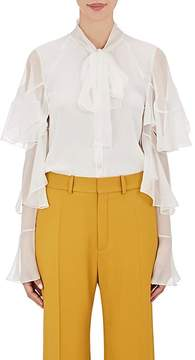 Chloé Women's Ruffled Silk Blouse
