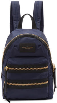 Marc Jacobs Navy Mini Biker Backpack - NAVY - STYLE