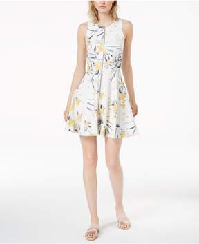 Bar III Zip-Front Scuba Dress, Created for Macy's