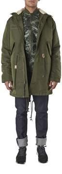 Alpha Industries Men's Green Cotton Outerwear Jacket.