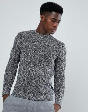 MANGO Man Chunky Knit Sweater In Navy