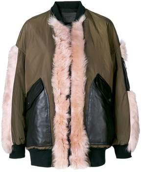 Drome faux-fur appliqué jacket